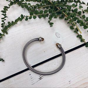 David Yurman   Cirtine & Diamond Cable Bracelet
